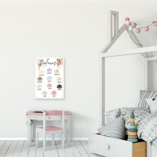 Plakat do przedszkola - Kolory
