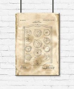 Zegar planetarny - plakat