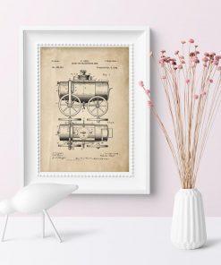 Plakat vintage - rycina patentu z roku 1894