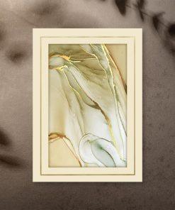 Plakaty w złocie z abstrakcją do powieszenia w salonie