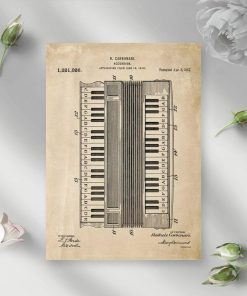 Plakat retro akordeon Carbonari