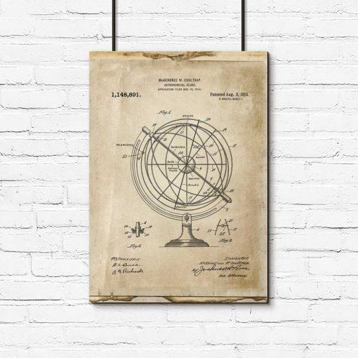 Poster dla wynalazcy - Astronomiczny globus do pokoju