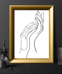 Plakat ze szkicem dłoni