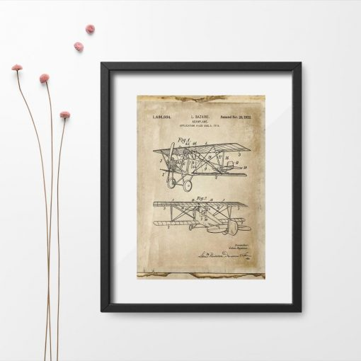 Plakat aeroplanem - patent