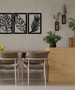 Wycinana dekoracja z botanicznym motywem