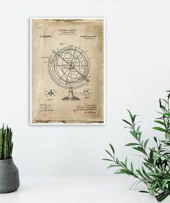 Poster dla wynalazcy - Astronomiczny globus do biura
