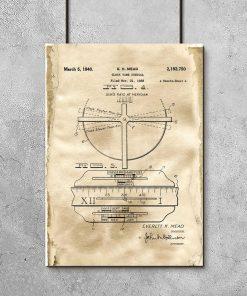 Plakat dla zegarmistrza - Patent na zegar z datownikiem do salonu