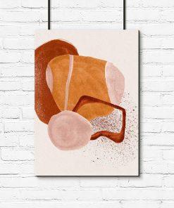 Abstrakcyjny plakat z plamami do salonu