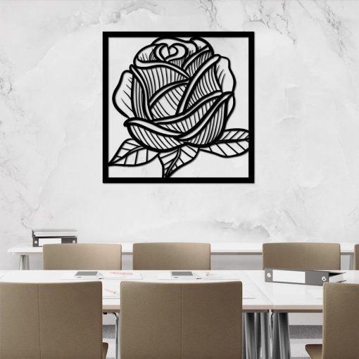 Przestrzenny panel z różą