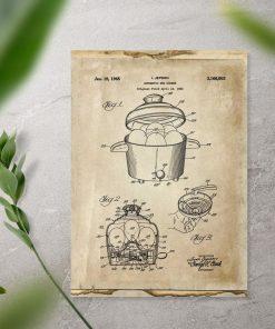 Plakat patent na garnek do gotowania jajek