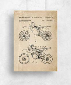 Plakat retro z motywem motocykla