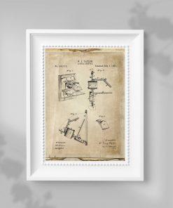 Plakat ze schematem budowy prototypu urządzenia