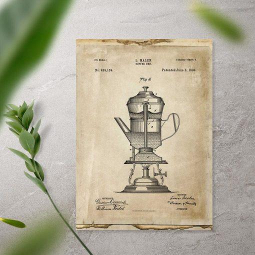 Plakat pierwszy ekspres do kawy - 1890r.