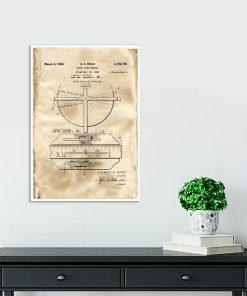 Plakat dla zegarmistrza - Patent na zegar z datownikiem do przedpokoju