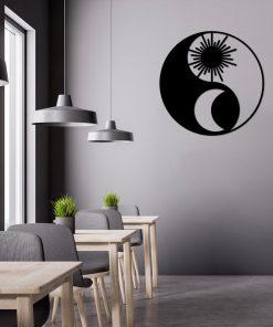 Trójwymiarowy dekor ścienny z Yin i Yang