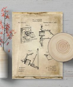 Plakat schemat budowy camera obscura - patent