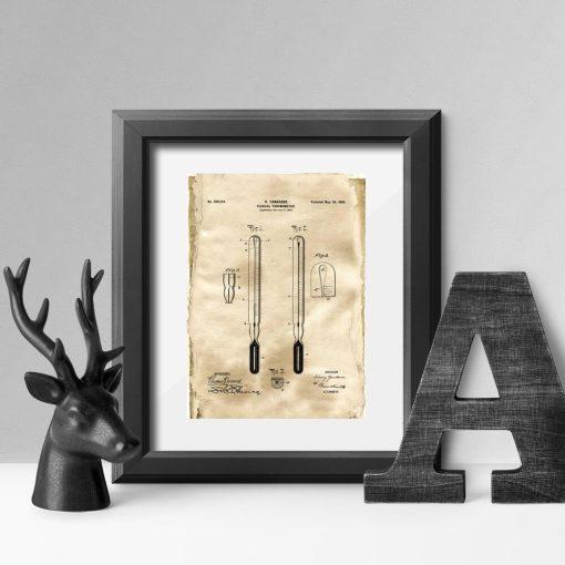 Plakat z koncesją na realizację termometr