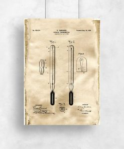 Plakat koncepcja budowy termometru