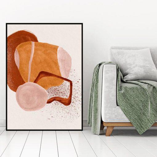 Abstrakcyjny plakat z plamami do gabinetu