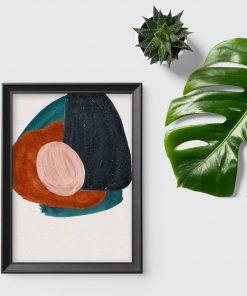 Plakat z kompozycją abstrakcyjnych plam