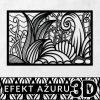 Dekoracja 3d z morską roślinnością