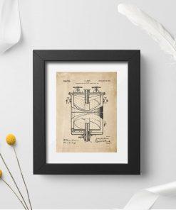 Plakat retro z parametrami do budowy kuchenki gazowej