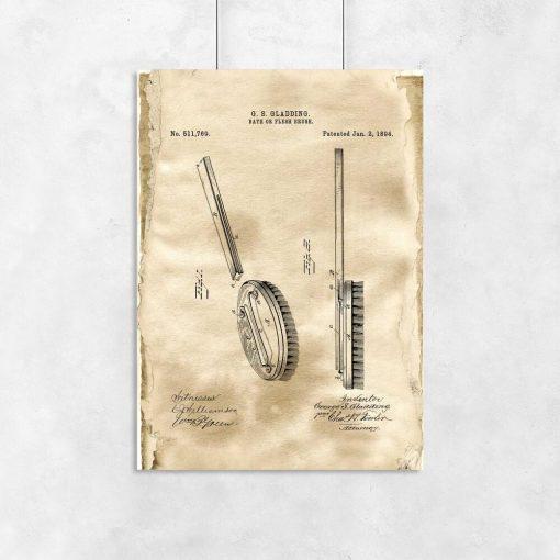 Plakat z patentem na szczotkę kąpielową do łazienki
