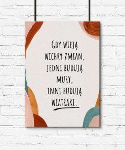 Artystyczny plakat z życiową maksymą do biura