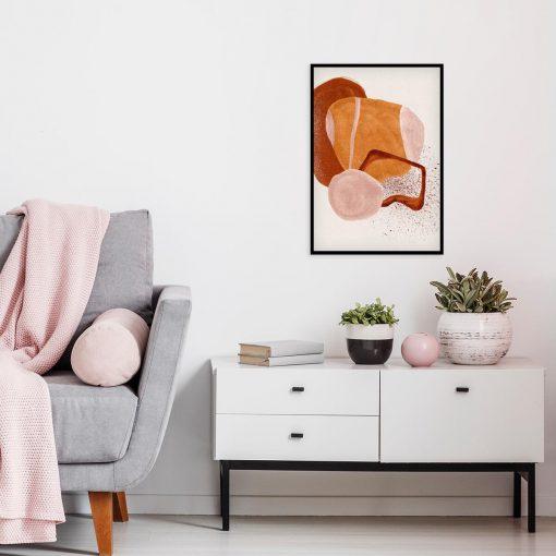 Abstrakcyjny plakat z plamami do jadalni