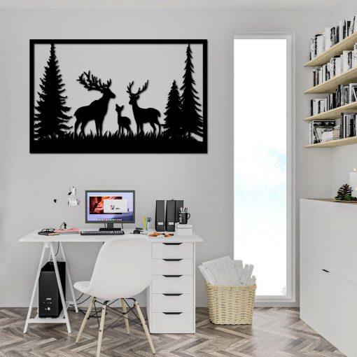 Rodzina jeleni - dekoracja 3d