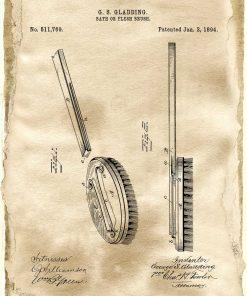 Plakat z patentem na szczotkę kąpielową do gabinetu