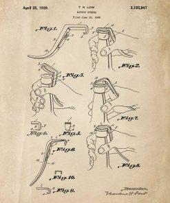 Patent na otwieracz - afisz