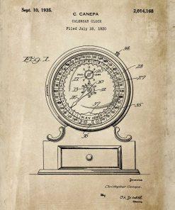 Poster w beżowym kolorze - patent na kalendarz