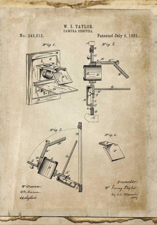 Plakat schemat budowy urządzenia - patent