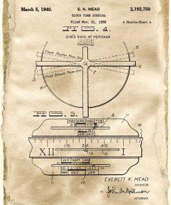 Plakat dla zegarmistrza - Patent na zegar z datownikiem do pokoju młodzieżowego