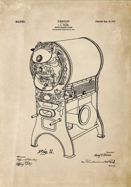 Poster dla kawosza - Patent na piec do kawy