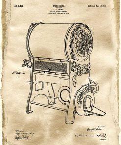 Poster z rysunkiem patentowym urządzenia do prażenia kawy