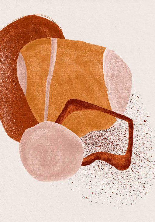 Abstrakcyjny plakat z plamami do biura