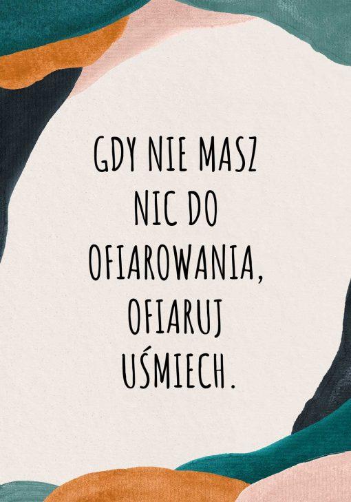 Plakat abstrakcyjny z typografią