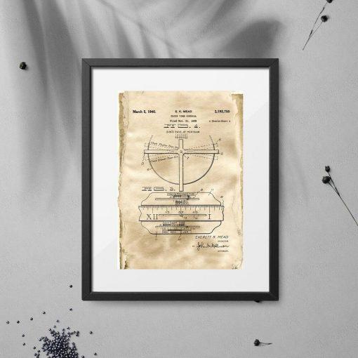 Plakat dla zegarmistrza - Patent na zegar z datownikiem do sypialni