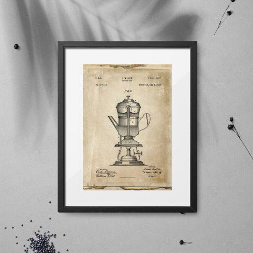 Plakat coffe urn - patent