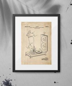 Plakat z rysunkiem patentowym urządzenia do smażenia pączków