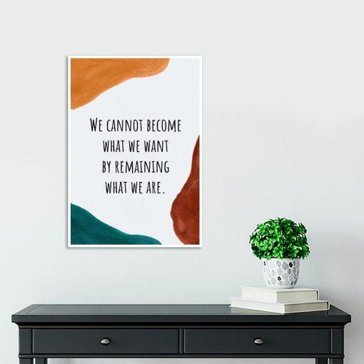 Plakat z napisem po angielsku o byciu sobą do gabinetu