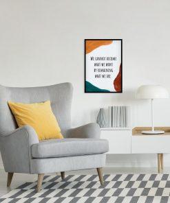 Plakat z napisem po angielsku o byciu sobą do czytelni