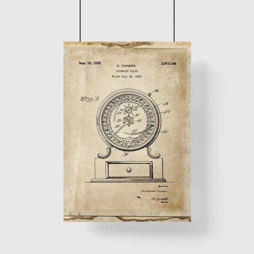 Poster ze schematem konstrukcji kalendarza