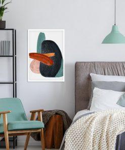 Plakat z akwarelą w kolorze grafitu do sypialni