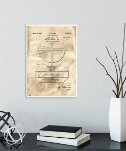 Plakat dla zegarmistrza - Patent na zegar z datownikiem do gabinetu