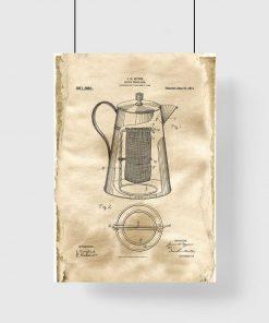 Plakat dla miłośnika kawy - Kawiarka z 1910 roku do jadalni