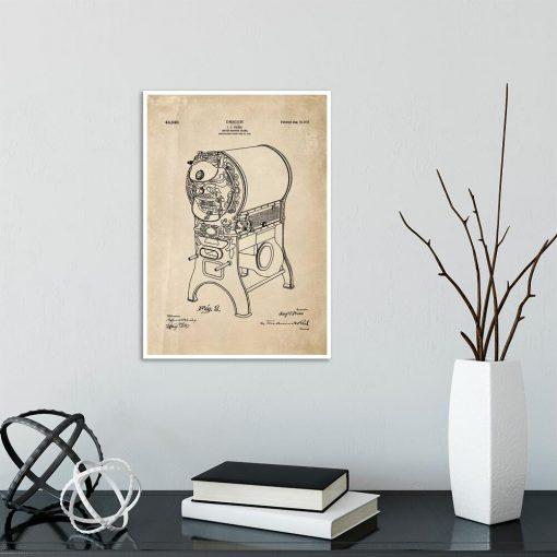 Poster dla kawosza - Patent na piec do kawy do jadalni