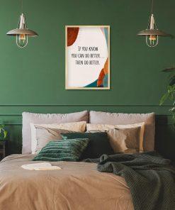 Artystyczny plakat - Then do better do gabinetu